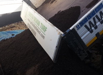Blended soil and compost in Plymouth